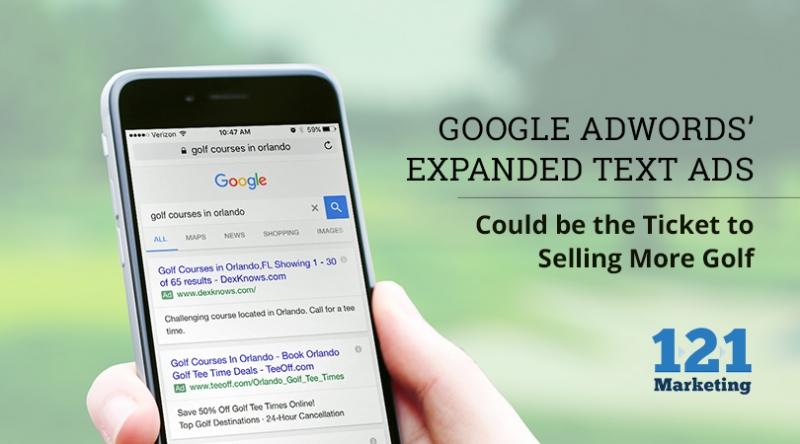 Google AdWords' Expanded Text Ads Could be the Ticket to Selling More Golf