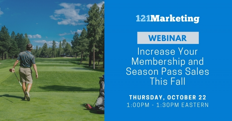 Webinar: Increase your Membership and Season Pass sales this Fall