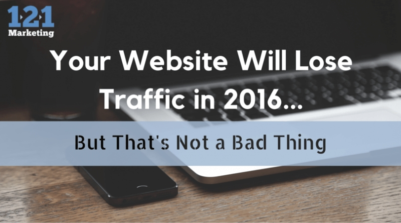 Your Website Will See Less Traffic in 2016… But That's Not a Bad Thing.